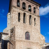 Bell tower of San Gil church, Cervera del Rio Alhama, La Rioja, Spain