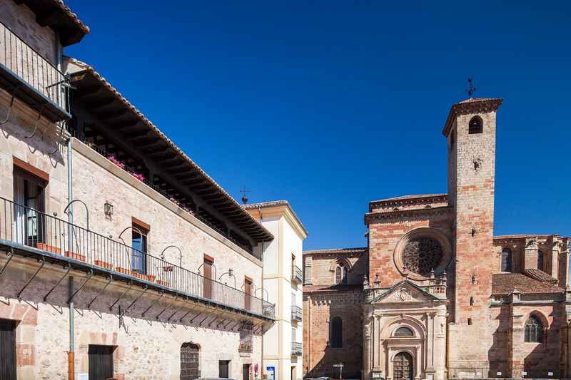 Plaza Mayor (Main Square) and Cathedral, Sigüenza, Guadalajara, Spain