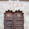Doorway of the Bishop's Palace, Burgo de Osma, Soria, Spain.
