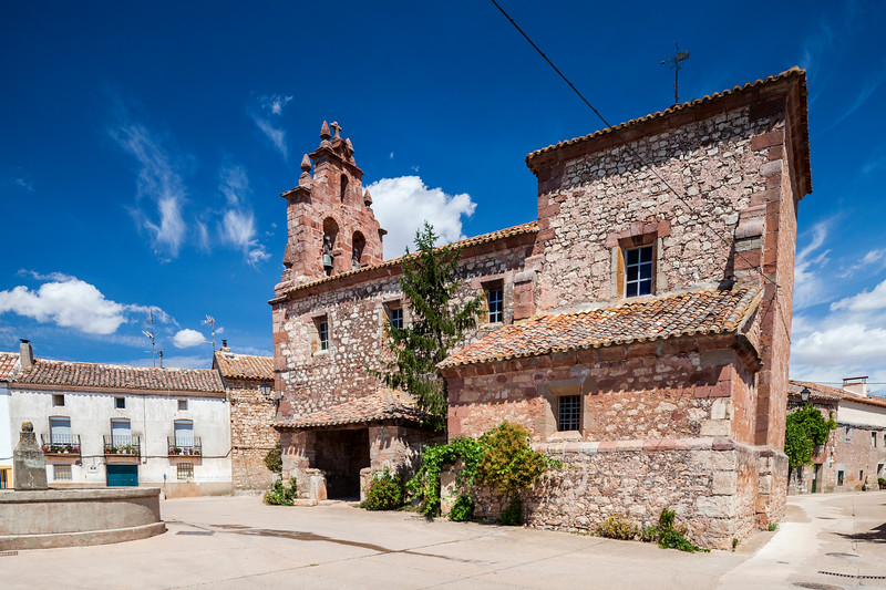 Church of the town of La Barbolla, province of Guadalajara, Spain