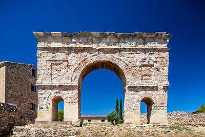 Roman triumphal arch, Medinaceli, province of Soria, Spain