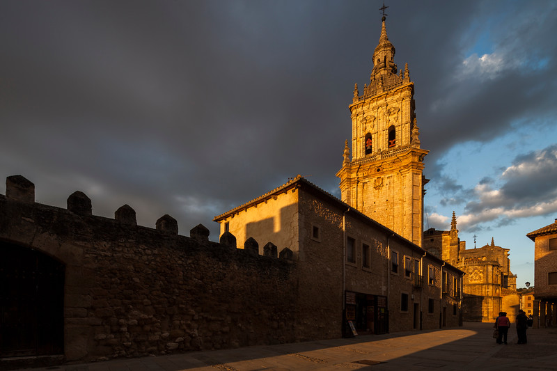 Partial view of the Cathedral at sunset. El Burgo de Osma, Soria, Spain.