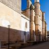 West facade of Santa Maria de la Asuncion Church, Carmona, province of Seville, Spain