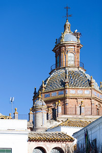 Dome of the Church of El Divino Salvador, town of Carmona, province of Seville, Spain