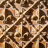 Fleurs de lis, detail from a facade, town of Carmona, province of Seville, Spain
