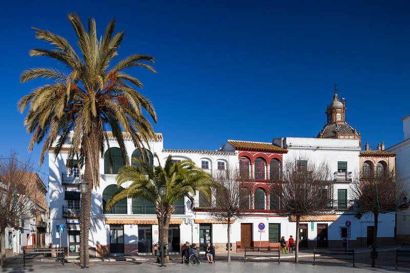 San Fernando square, town of Carmona, province of Seville, Spain