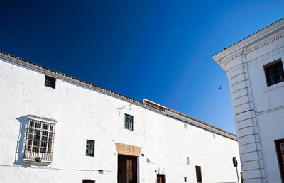 Typical houses in the historical city of Carmona, province of Seville, Spain