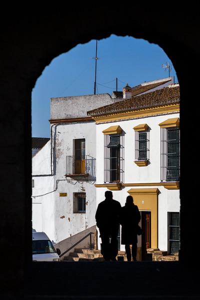 Sevilla gate archway, town of Carmona, province of Seville, Spain