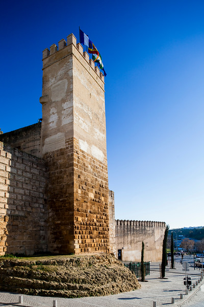 Keep of Carmona Castle (Alcazar), province of Seville, Spain