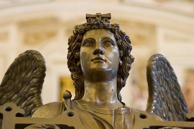 Close up of a bronze statue at El Escorial, Spain
