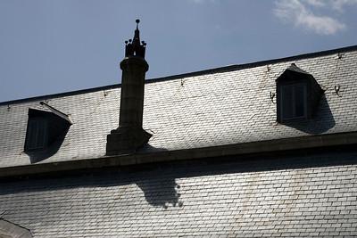 Roofing with slate tiles, El Escorial, Spain