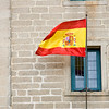 flagpole, flagstaff, flag, flags, flutter, fluttering, Spanish flag, red, yellow, fly, flying