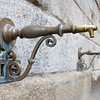 Detail of an old drinking fountain at El Escorial, Spain