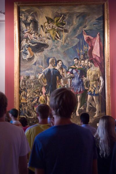 """""""El Martirio de San Mauricio"""" (Martyrdom of St. Maurice), by El Greco, exhibited at El Escorial monastery, Spain."""