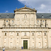 Facade of El Escorial, Spain.  Frontal view.