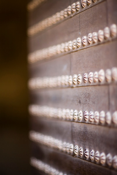 Detail of the old door of Justice Gate, Alhambra, Granada, Spain