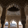 Arches, Court of Lions, Alhambra, Granada, Spain