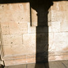 Shadow of a column, Palace of Charles V, Granada, Spain