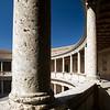Column, Palace of Charles V, Granada, Spain