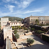 View of Alcazaba (left) and Palace of Charles V (right), Alhambra, Granada, Spain