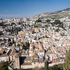 The city of Granada as seen from Alhambra hill, Spain