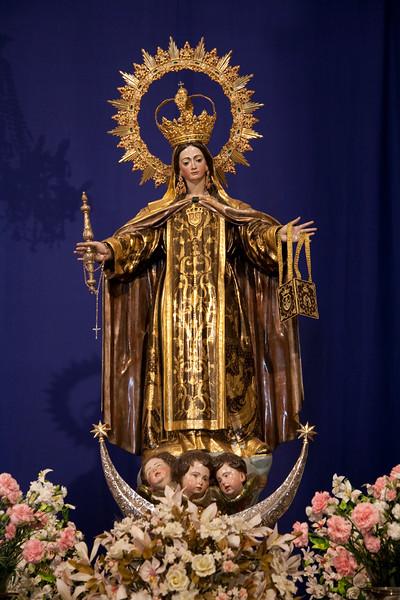 Virgen del Carmen, town of Galaroza, province of Huelva, Spain