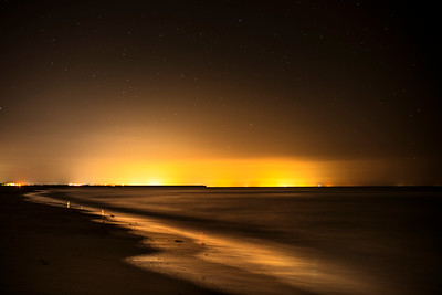 Light pollution in a moonless night, Punta del Moral, Ayamonte, Spain.