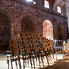 Interior of El Monumento unfinished church, town of Casta–o del Robledo, province of Huelva, Andalusia, Spain