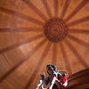 Dome of El Monumento church, town of Casta–o del Robledo, province of Huelva, Andalusia, Spain