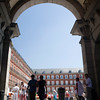 Framed view of Plaza Mayor, Madrid, Spain