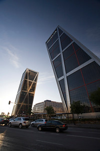 Kio Towers, Plaza de Castilla, Madrid, Spain