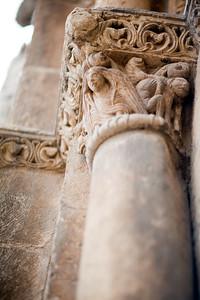 Romanesque capital, San Isidoro basilica, town of Leon, autonomous community of Castilla y Leon, northern Spain