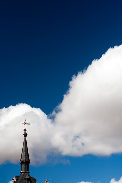 Pinnacle and weather vane, town of Leon, autonomous community of Castilla y Leon, northern Spain