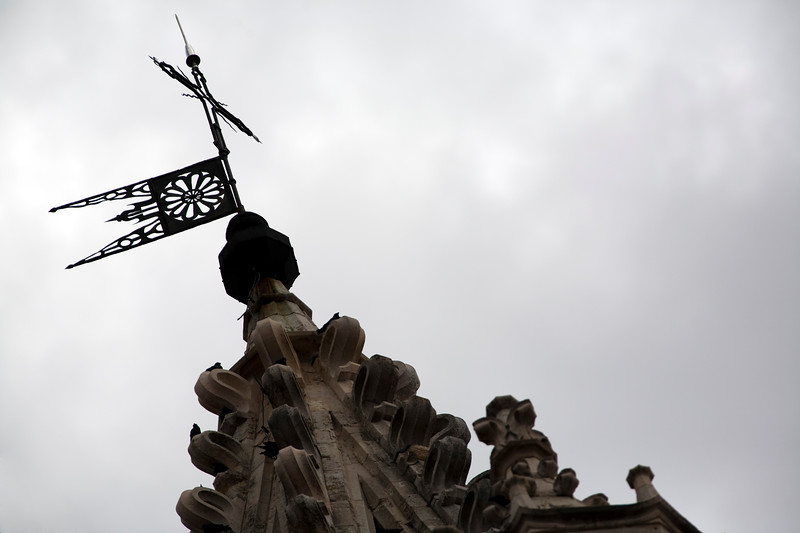 Pinnacle and weather vane, Cathedral of the town of Leon, autonomous community of Castilla y Leon, northern Spain
