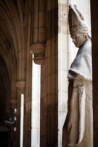 Statue from San Marcos cloister, town of Leon, autonomous community of Castilla y Leon, northern Spain
