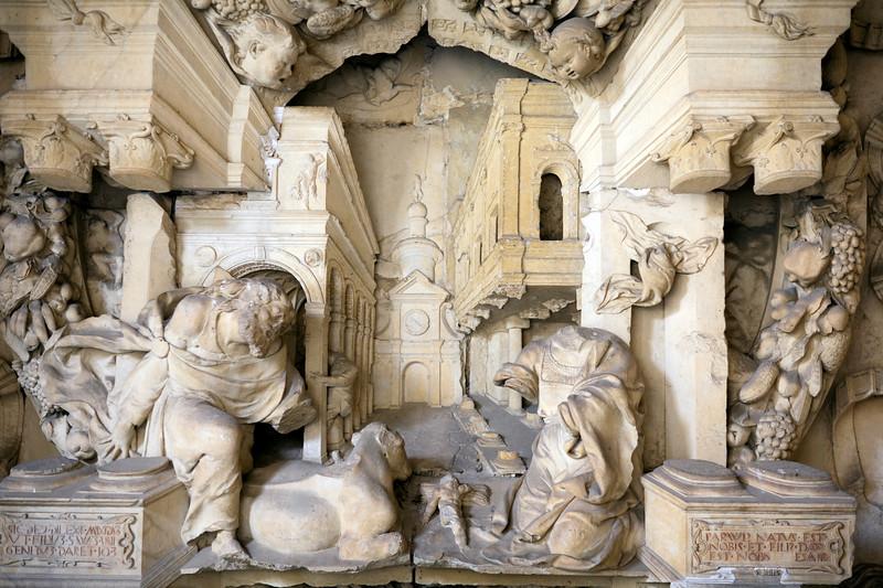 Renaissance high relief work, cloister of San Marcos, town of Leon, autonomous community of Castilla y Leon, northern Spain