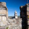 View from the Templar castle, town of Ponferrada, El Bierzo region, province of Leon, autonomous community of Castilla and Leon, northern Spain
