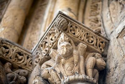 Romanesque capitals, San Isidoro basilica, town of Leon, autonomous community of Castilla y Leon, northern Spain