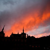 Sunset sky, town of Leon, autonomous community of Castilla y Leon, northern Spain