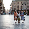Elderly women walking in downtown, town of Leon, autonomous community of Castilla y Leon, northern Spain
