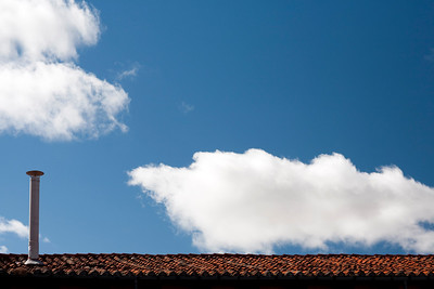 Tiling roof, town of Leon, autonomous community of Castilla y Leon, northern Spain