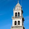 Bell tower of La Encina basilica, town of Ponferrada, El Bierzo region, province of Leon, autonomous community of Castilla and Leon, northern Spain