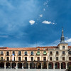 Plaza Mayor or Main Square, town of Leon, autonomous community of Castilla y Leon, northern Spain