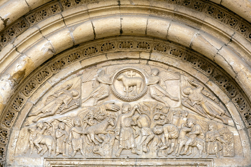 Detail from the doorway, San Isidoro basilica (in Romanesque style), town of Leon, autonomous community of Castilla y Leon, northern Spain