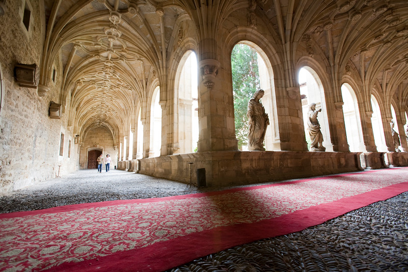 Cloister of Hotel San Marcos, former hostel for pilgrims, town of Leon, autonomous community of Castilla y Leon, northern Spain