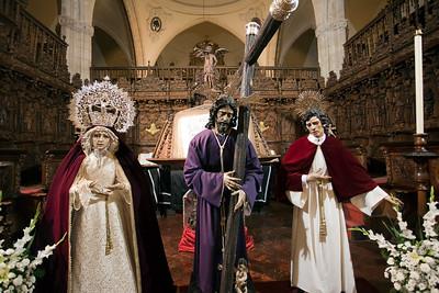 The Virgin, Christ and Saint John, Santa Maria la Mayor church, town of Ronda, province of Malaga, Andalusia, Spain