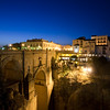 Puente Nuevo (New Bridge, 18th century) by night, town of Ronda, province of Malaga, Andalusia, Spain