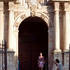Santa Cecilia church entrance, town of Ronda, province of Malaga, Andalusia, Spain