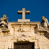 Detail from the top of Santa Cecilia church, town of Ronda, province of Malaga, Andalusia, Spain