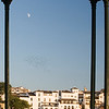 Framed view of the town of Ronda, province of Malaga, Andalusia, Spain
